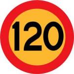 120 skylt