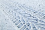 Vinterdubbdäck i snö