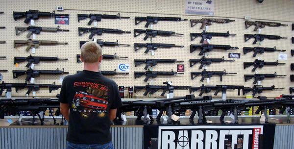 Vapen kan köpas över disk sju dagar i veckan.