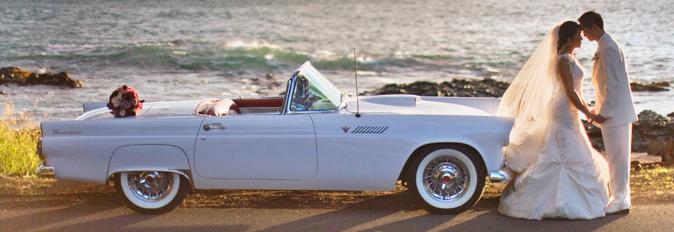 """Att gifta sig i en klassisk bil är """"hot"""" i Florida."""